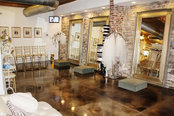 0e7edd43ebc Spacious and stylish bridal fitting rooms.
