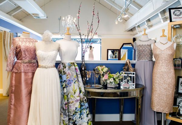 "The Bella Sera Bridal & Occasion motto is ""Every woman. Every occasion."" The store truly caters to every shape, size and taste. Mother-of-the-bride and mitzvah dress designers (L to R) are Teri Jon, Casablanca (dress) with a Giavan belt, Theia, Terani and Sorella Vita (this is only a partial list of MOB/mitzvah designers the store works with). Photo ©Shawn Black Photography"