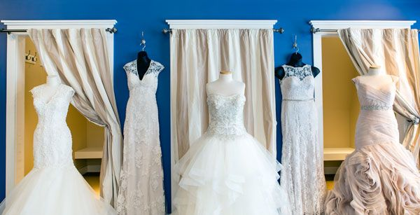 Bella Sera Bridal & Occasion has dressed thousands of brides over the past decade, all beautiful and unique. Bridal gown designers (L to R) are Justin Alexander, Lillian West, Casablanca, Paloma Blanca and Essense of Australia (this is only a partial list of bridal designers the store works with).