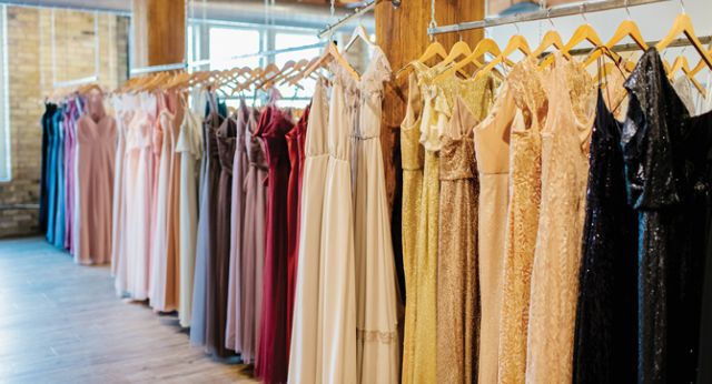 There are more than 250 bridesmaids dress styles in store for brides to choose from.