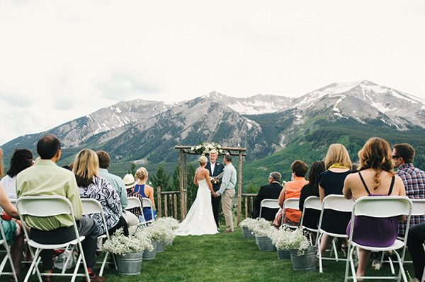 Adam and Rebekah, who bought her dress at Encore Bridal in Ft. Collins, Colo., for the couple's wedding in Crested Butte. Colo.  Photo Credit: Encore Bridal, Fort Collins, Colo.