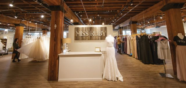 A look at the boutique upon entering the front door. Because Miss Ruby is located on the second floor in a loft space, it doesn't have a typical store front.