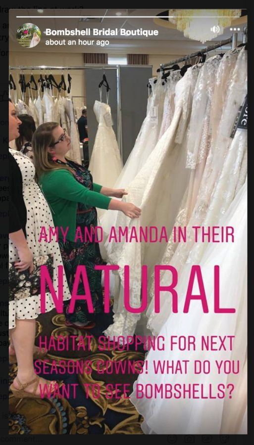 Stories – in particular those that ask opinion questions – are all the rage (Credit: @bombshellbridalboutique on Facebook)