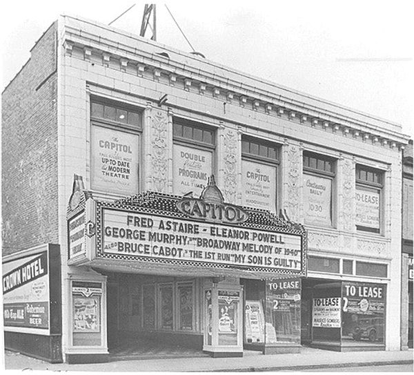 The Capitol Theater, which was recently purchased by Fatima Rodriques and Joel Benson.