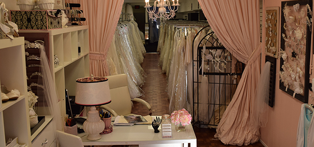 Cherished Bridals works hard to create a boutique-like feel, manager Barbara Cassini says.