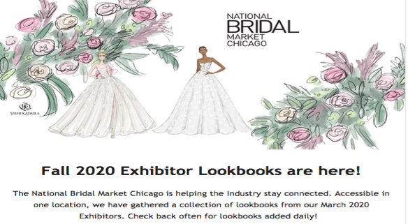 For access to the National Bridal Market's special section for Fall 20 lookbooks, check below