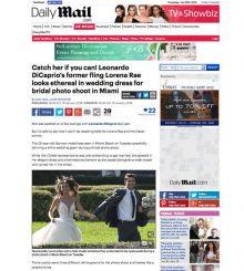d0157a193583 DailyMirror UK captures Leonardo DiCaprio's former girlfriend Lorena Rae  modeling bridal gowns at Martin Thornburg photo