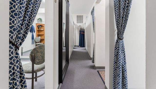 Ten fitting rooms allow for plenty of traffic in the 7,200-square-foot space.