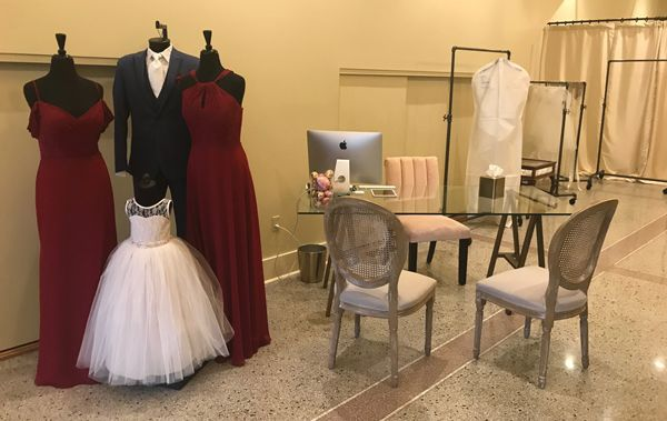 Having a small, intimate checkout counter means it's all about relationships at Ellen's Bridal.