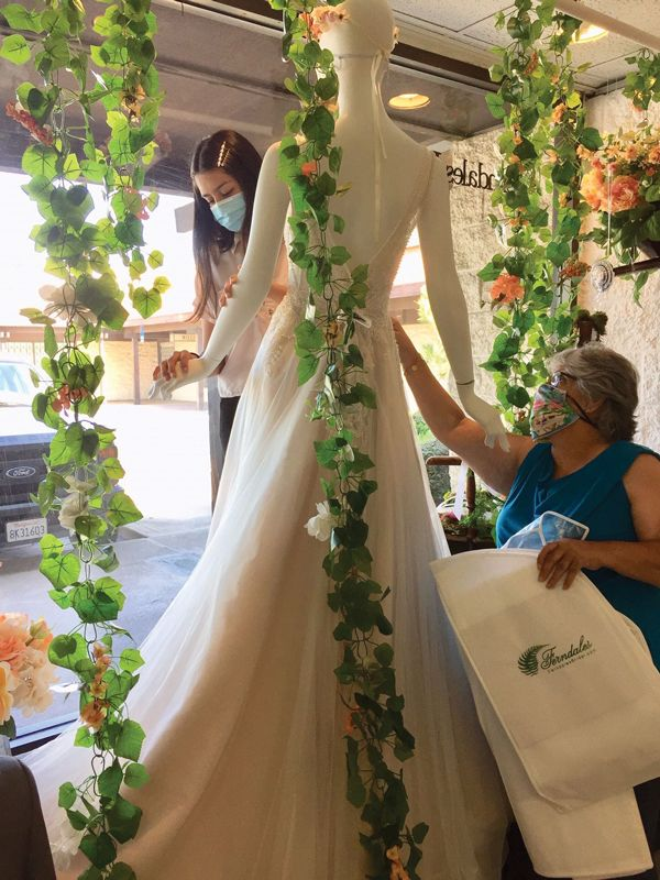 "After being closed for approximately 10 weeks, Ferndales Bridal in Orange, Calif., reopened in early June. Co-owner Tom Linnert says the pandemic-driven shutdown helped staff ""remember why we're here."" (Courtesy Ferndales Bridal on Instagram)"