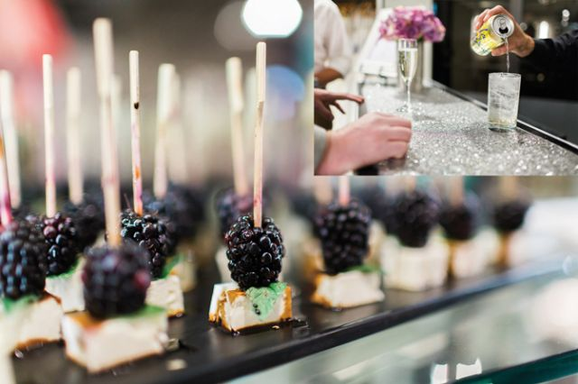 Guests at Gateway Bridal and Prom's grand opening enjoyed hors d'oeuvres and drinks.