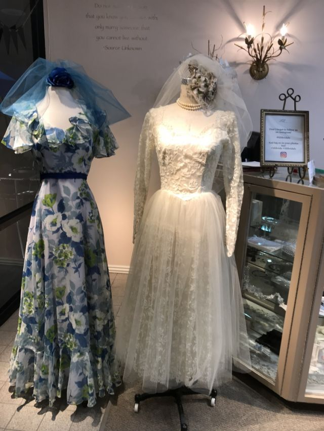 Vintage bridals fashions from Lili Bridals were on display from the 1950's, 1960's , 70's and thru the 1990's. #vintagebridal #lilibridals