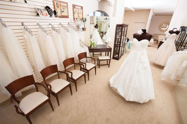 The alterations and accessories department helps brides complete their wedding-day look. Photo credit: Topher Stevenson / J Thomas Photography