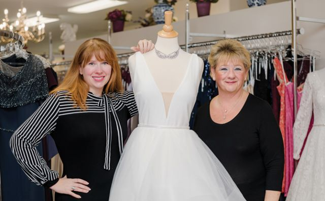 Lauren Morehouse and her mother Melanie Allen Mattegat are continuing the family legacy at Julie Allen Bridals.