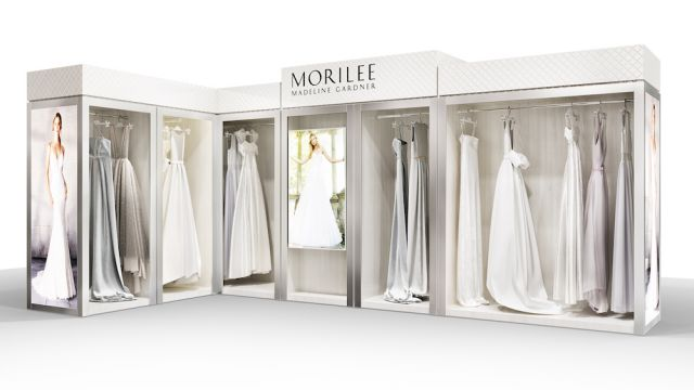 Morilee's Bridal Boutique merchandising display