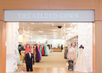 The Gilded Gown store entrance. Photo credit: Star Noir Studio
