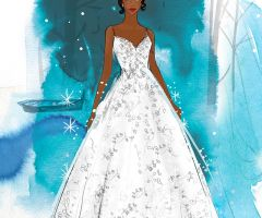 Tiana Platinum Gown from Allure Bridals new Disney Fairy Tales Weddings collection.