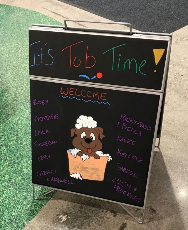 Welcoming dog wash customers screams 'we care!'