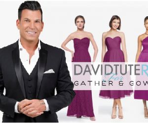David Tutera and his new bridesmaid collection produced by Gather and Gown.