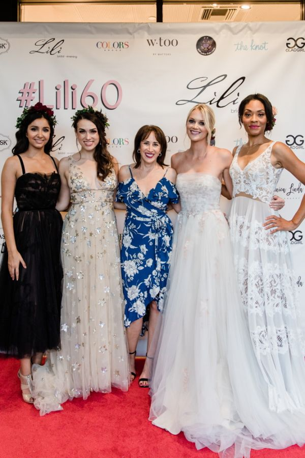 Lisa Litt, center, announced at the event that Lili Bridals  is now a  Wtoo by Watters flagship store.