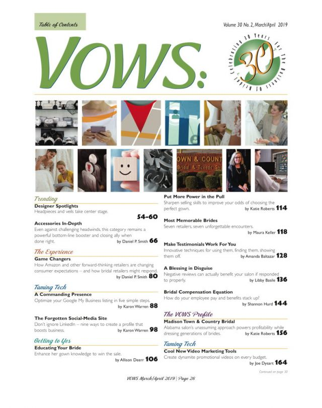 Vows magazine sign up
