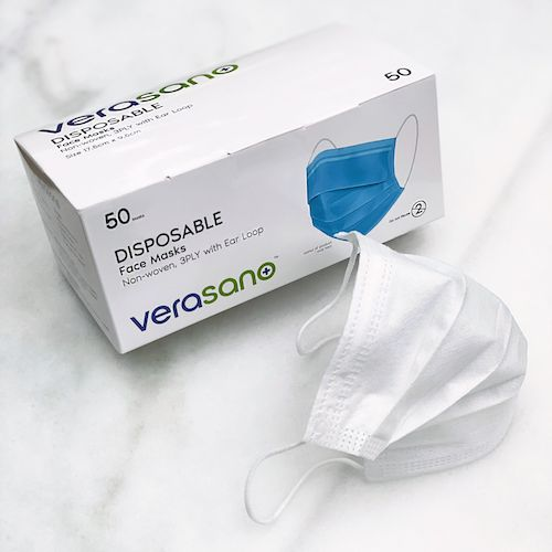 Verasano, a division of Essense of Australia, produces Smart Fiber Face Masks, a high-tech antimicrobial fabric face mask